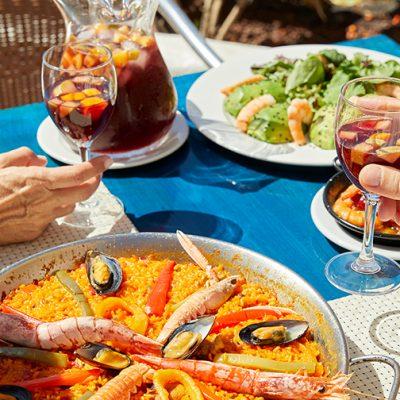 Comer Paella Restaurante La Palapa