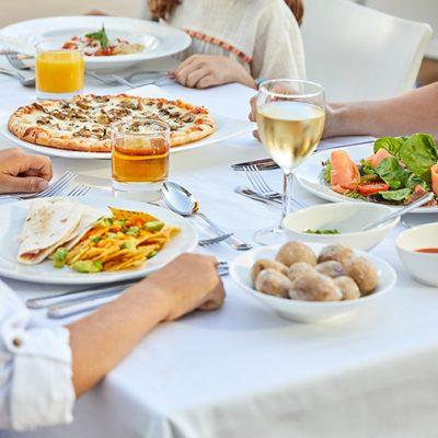 Comida restaurante hotel Menditerranean
